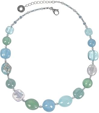 Antica Murrina Florinda Light Blue and Green Murano Glass Beads Necklace $90 thestylecure.com