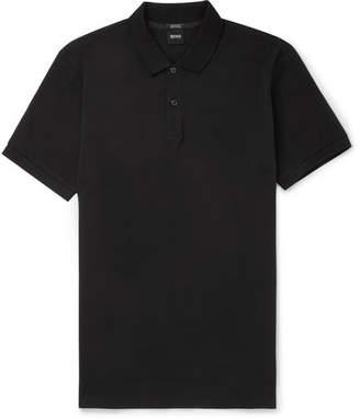HUGO BOSS Pallas Cotton-Pique Polo Shirt - Men - Black
