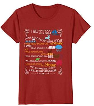 I will read books on a boat & everywhere reading t-shirt