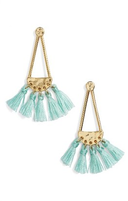Women's Rebecca Minkoff Geo Tassel Chandelier Earrings $58 thestylecure.com