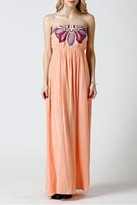 West 36th Strapless Peach Dress