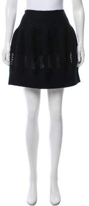 Alaia Knit-Accented Mini Skirt