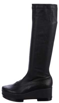Robert Clergerie Leather Knee-High Boots