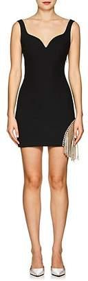 Area Women's Francisco Crystal-Embellished Stretch-Twill Dress - Black