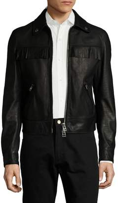 Tom Ford Men's Leather Fringed Jacket