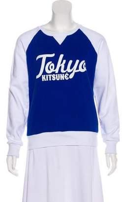 Kitsune Graphic Long Sleeve Sweatshirt