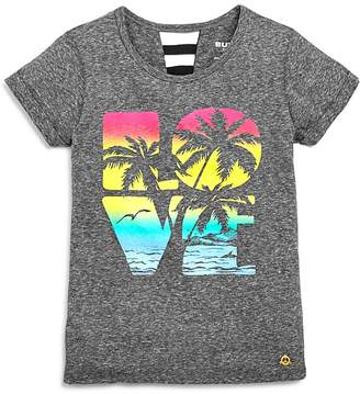 Butter Shoes Girls' Beach Sunset Love Ladder-Back Tee - Little Kid