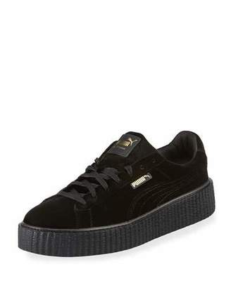 Fenty Puma by Rihanna Men's Velvet Creeper Sneakers, Black $150 thestylecure.com