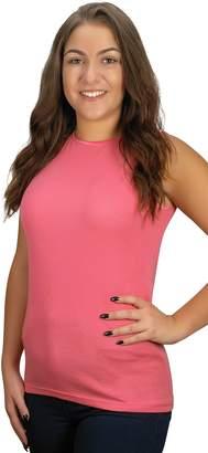 Rosette Women's Sleeveless Undershirt - Cotton - High Neck, Full Shoulder Design