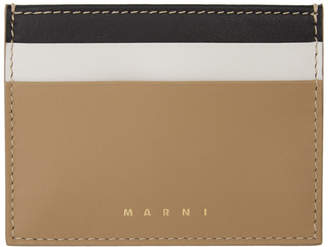 Marni Black Tricolor Card Holder