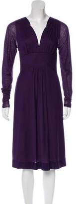 Alberta Ferretti Wool-Blend Dress