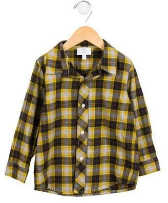 CZ by Carolina Zapf Boys' Plaid Button-Up Shirt