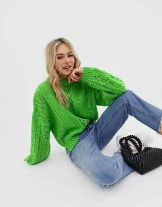 Asos (エイソス) - Asos Design ASOS DESIGN open stitch sweater in fluffy yarn