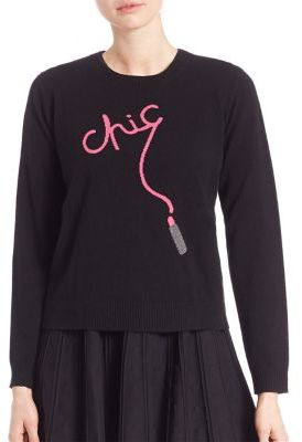 MILLY Cashmere Chic Intarsia Sweater $350 thestylecure.com