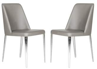Safavieh Baltic Leather Dining Side Chair - Set of 2