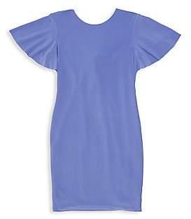Un Deux Trois Girl's Keyhole Back T-Shirt Dress