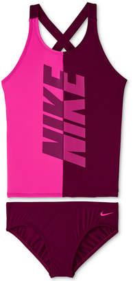 7f7d3321a6c77 Nike Big Girls 2-Pc. Rift Prism Crossback Tankini