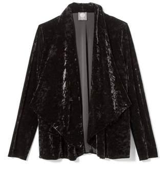 Vince Camuto Velvet Drape-front Jacket