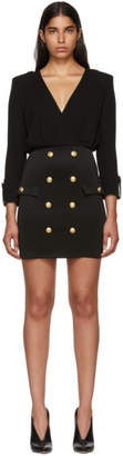 Balmain Black Jersey Short Dress