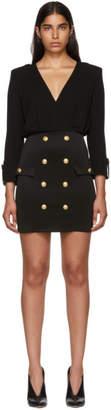 Balmain Black Jersey Short Dress