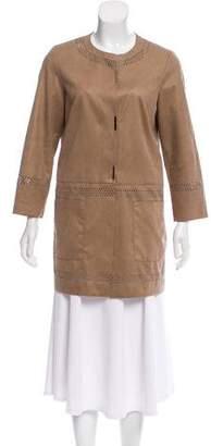 D-Exterior D. Exterior Suede Longline Jacket