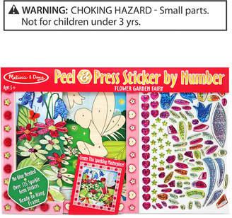 Melissa & Doug Kids Toy, Peel & Press Sticker by Number Flower Garden Fairy Set
