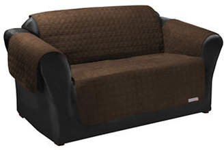 Sure Fit QuickCover for Leather Premium Microsuede Loveseat Protector