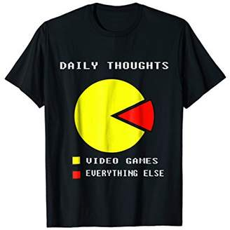 Funny Video Gamer T Shirt 95% Video Games 5% Daily Thoughts
