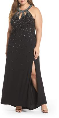 Morgan & Co. Heat Sealed Stone Knit Gown