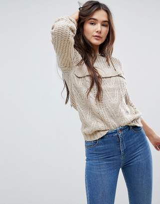 QED London Sweater With Frill Detail