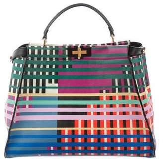 Fendi Printed Large Peekaboo Bag