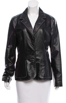 MICHAEL Michael Kors Notch-Collar Leather Jacket