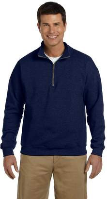 Gildan mens Heavy Blend 8 oz. Vintage Classic Quarter-Zip Cadet Collar Sweatshirt(G188)-L
