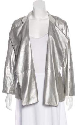 St. John Metallic Open-Front Jacket