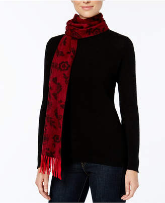 Charter Club Floral Cashmere Scarf