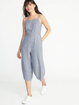 Old Navy Waist-Defined Linen-Blend Cami Jumpsuit for Women
