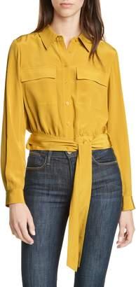 Diane von Furstenberg Everlynn Crop Silk Blouse