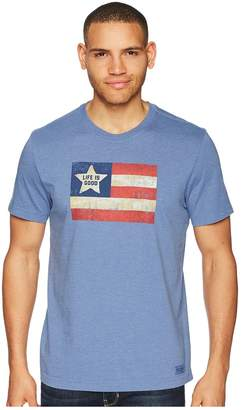 Life is Good Vintage American Flag Crusher Tee Men's T Shirt