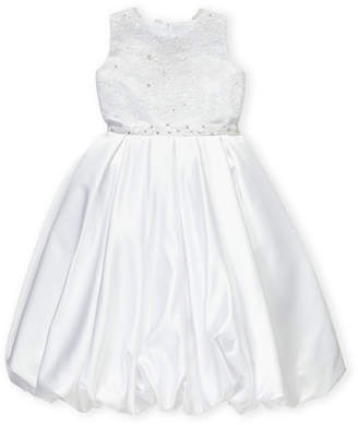 Joan Calabrese For Mon Cheri (Girls 7-16) White Embroidered Formal Dress