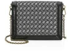 Bottega Veneta Two-Tone Woven Chain Clutch