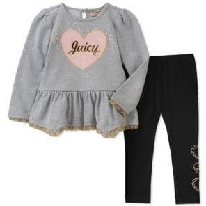 Juicy Couture Little Girl's Two-Piece Flare Tunic and Leggings Set