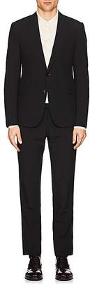 Armani Collezioni MEN'S WOOL SEERSUCKER 3-PIECE SUIT
