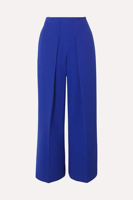 Roland Mouret Crepe Wide-leg Pants - Blue