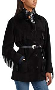 Nili Lotan Women's Fringed Suede Jacket - Black