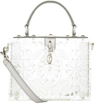 Dolce & Gabbana Plexiglass Padlock Top Handle Bag