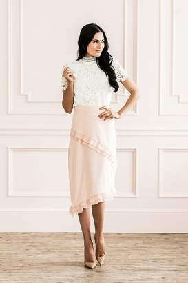 Rachel Parcell Pale Petal Ruffle Skirt