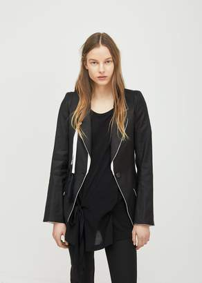 Ann Demeulemeester Tailored Blazer Walsh Black Cameron Off White
