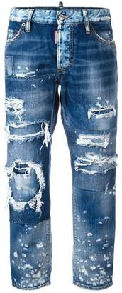 DSQUARED2 ripped Boyfriend jeans
