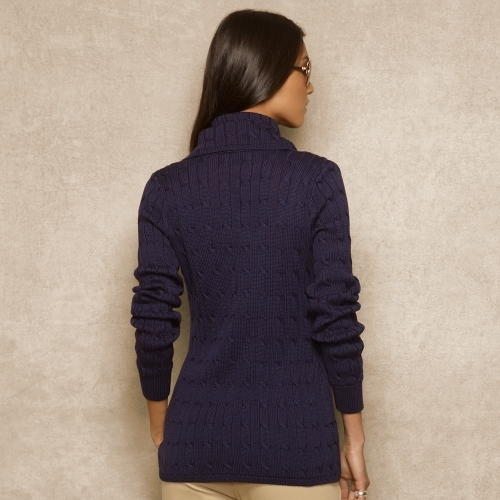 Ralph Lauren Blue Label Cable-Knit Wrap Cardigan