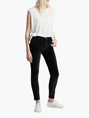 French Connection Velvet High Rise Skinny Jeans